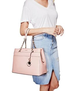 Janette Logo Girlfriend Satchel at Guess