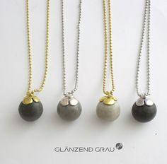 concrete jewelry glänzendgrau bei Made in Hamburg YEAH