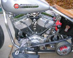 Picture of 1955 Panhead FL Harley Oldschool Bobber with rebuilt 1500cc Harley Panhead engine.