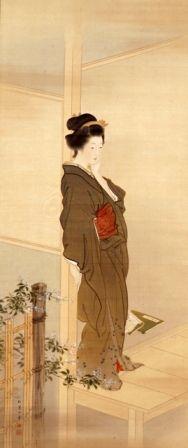 婦女之図(ものおもい) by 上村松園