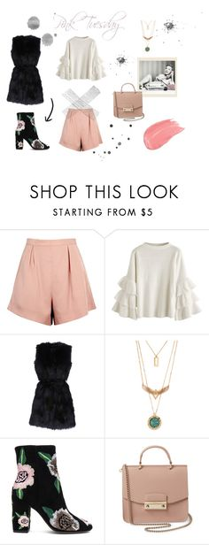 """""""Pink Tuesday"""" by andrianagkia94 on Polyvore featuring Finders Keepers, Rebecca Minkoff and Furla"""