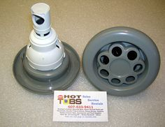 """5 inch face diameter, stands 5 1/4"""" tall. interchanges w/ all POWER storm jets."""