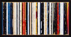 Bande son n°46 - Les années 80 - Disques vinyles - Tableau de Didier Delgado
