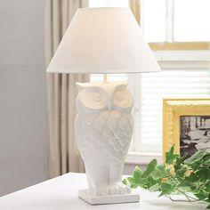 Regal Owl Lamp   dotandbo.com