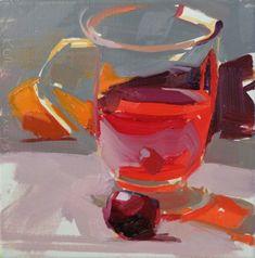 glass, red, light, energy