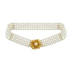 1980s Vintage Pearl Choker Necklace with Gold and Pearl Clasp by LuluandBelleShop on Etsy €59.  #vintagepearls #bridaljewellery #bridaljewelery #vintagebridal #bridalnecklace #pearlchoker #vintagepearlchoker