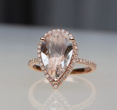 Items similar to Emerald cut white to ice peach champagne sapphire in rose gold diamond ring engagement ring on Etsy Modern Engagement Rings, Rose Gold Engagement Ring, Engagement Jewelry, Halo Engagement, Engagement Session, Rose Gold Diamond Ring, Rose Gold Jewelry, Gold Ring, Peach Champagne Sapphire