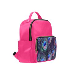 Peacock Feather Campus backpack/Large. FREE Shipping. FREE Returns. #lbackpacks #peacock