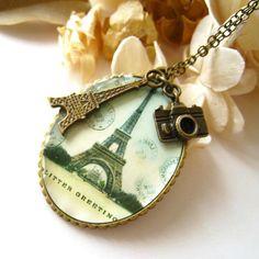 Sale Limited Time  Antique Brass Oval Eiffel Tower by zazastory, $5.99