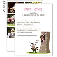 moyen age carte de remerciements mariage humoristique trs chevaleresque personnaliser avec vos photos - Texte Remerciement Mariage Original