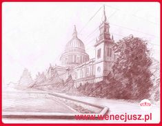 Rysunek - architektura. SZKOŁA RYSUNKU I MALARSTWA  wenecjusz.pl Technical University, Learn To Draw, Taj Mahal, Drawing Architecture, Fine Art, Drawings, Places, Travel, Painting