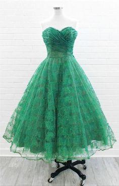 1950's Strapless Prom Dress