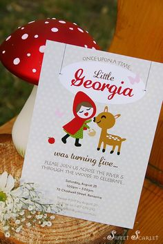 @Danielle Lampert Lewis    Invitation for a Woodland Party with So Many Really Cute Ideas via Kara's party ideas.