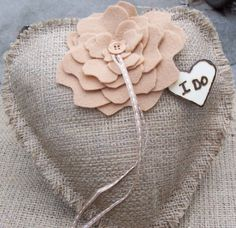 I-DO-Rustic-Burlap-Heart-Shaped-Ring-Bearer-Pillow