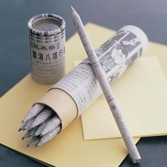 Pencil made of newspaper