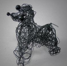 Black Cocker Spaniel  Wire Dog  Portrait Figurine