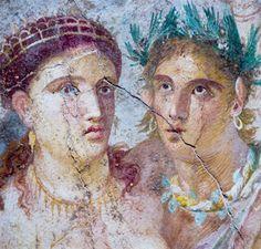 esposos. pintura pompeyana