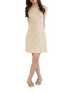 Brands | Dresses | Girls 7-16 Golden Lace Dress | Lord and Taylor