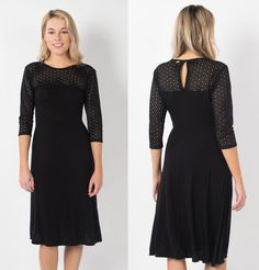 Silk-Blend A-Line Dress With Laser-Cut Lace