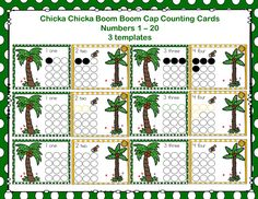 I have added a Chicka Chicka Boom Boom Cap Counting Cards file to 1 - 2 - 3 Learn Curriculum. All Chicka Chicka Boom Activities will be in one file. :) Click on picture to access web site and learn how to become a member for only $30. a year in home child care or $55. a year centers.
