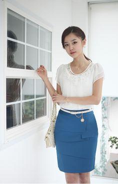 Новинка полиэстер сплошной тонкий хип длиной до колен Staigth большой размер юбки женская юбка 2013 купить на AliExpress