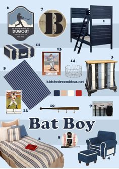 Ideas For A Baseball Bedroom
