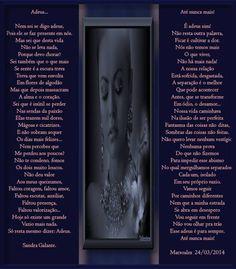 Adeus com Sandra Galante e Até Nunca mais com Marsoalex. - Encontro de Poetas e Amigos