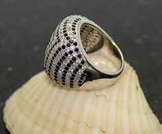 925 Sterling Silver Elegant Ring with Cz by GoldenChoiceJewelry