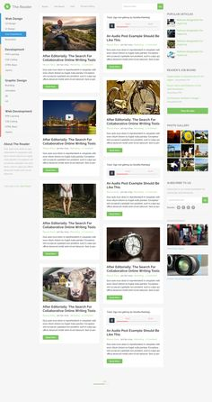 The Reader Blog Design by Masum Rana