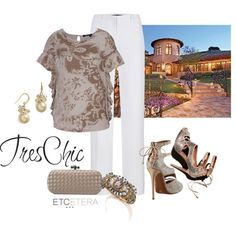 """""""'WHIMSICAL' and 'LAVISH' for a Wine Country Dinner   www.etcetera.com"""" by etcetera-nyc on Polyvore"""