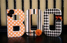 decorated {boo} letters...not into traditional halloween decor, but these are fun!