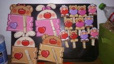 Valentine Crafts, Valentines, Bazaar Crafts, Printable Labels, Cartoon Pics, Paper Piecing, Biscuit, Folk Art, Diy And Crafts