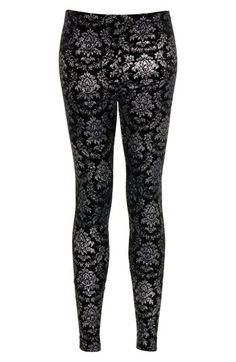 Topshop Ombré Glitter Velvet Leggings available at #Nordstrom
