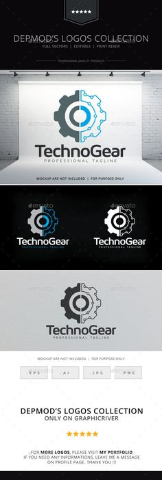 Techno Gear Logo — Vector EPS #technology #electronic • Available here → https://graphicriver.net/item/techno-gear-logo/9990005?ref=pxcr