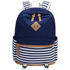 Canvas Backpack, Bagerly Casual Lightweight School Laptop Bag / Daypack Satchel $64.99