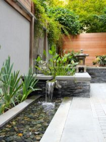 Backyard is place about what we care a lot. Sometimes we ask designers and experts for some ideas for decoration. We feel good if we have good decorated ho Zen Garden Design, Japanese Garden Design, Patio Design, Landscape Design, Backyard Designs, Zen Design, Rock Design, Wall Design, Creative Design