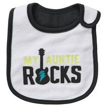 Auntie Rocks Teething Bib - I should probably buy this for my Hammie!