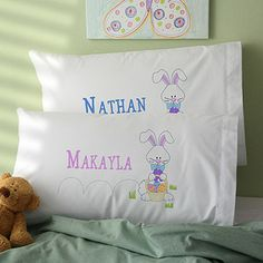 Hip Hop Bunny Personalized Pillowcase