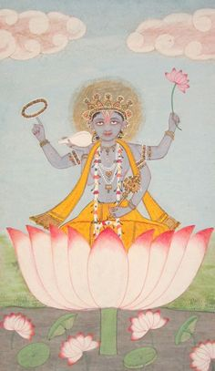 alaric7:  Vishnu in a lotus.