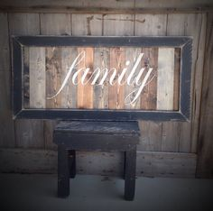 Sign Pictured measures 36 Inches wide 18 Inches Tall Frame distressed Each Piece of wood is stained a different color Once the stain is dry lettering is painted by hand in Ivory Frame painted black once dry frame is distressed ** Signs can be ordered in a larger size and different color Please send me a message for a quote :) **I provide hangers for each sign Signs are made when payment for your order is made. **Each sign is made for you so each sign is unique no two are identical....