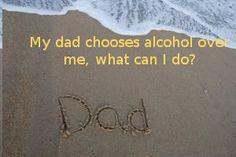 daughter angry with alcoholic dad