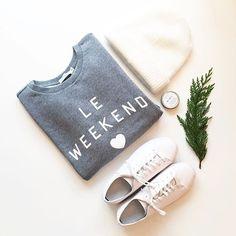 Grey & cream casual style - Le Weekend sweatshirt