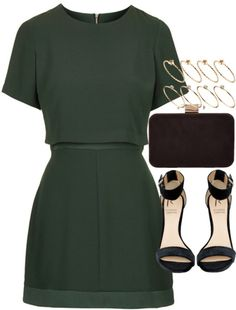 styleselection: Outfit for prom by ferned featuring ASOSTopshop short dress, 110 AUD / Rihanna For River Island heeled sandals, 78 AUD / Monsoon chain handbag, 56 AUD / ASOS ring, 10 AUD