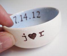 any CUSTOM text LIGHT BLUE interior wedding ring pillow ring dish something blue wedding ring holder custom wedding date personalized names