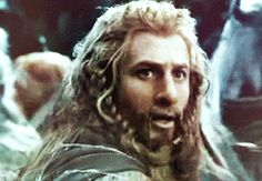 The look on Fili's face when he realizes his brother is isn danger and he can't do anything about it