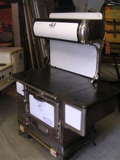 old wood cooking stoves | stove master climax early 1900 s old cast iron wood coal cook stove ...