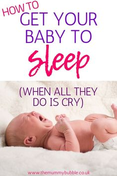 Tips and tricks to help your baby get to sleep even when they cry all evening or only want to sleep on you! Lots of practical hacks for getting babies of all ages to sleep better and for longer How To Sleep Faster, How To Get Sleep, Sleep Better, Newborn Baby Tips, Newborn Care, Baby Sleep Consultant, Baby Sleep Schedule, Rock You Baby, Toddler Sleep