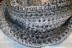 Free Easy to Crochet Infinity Scarf Pattern or Free Crochet Cowl Pattern Crochet Infinity Scarf Free Pattern, Crochet Motif, Free Crochet, Crochet Scarves, Crochet Yarn, Finger Crochet, Crochet Dog Sweater, Arm Knitting, Knitting Patterns