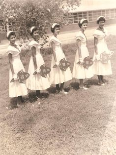 Vintage# Texas College, Alpha Kappa Alpha Sorority, Pretty Girls 1950s