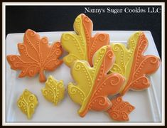 fall sugar cookies - Google Search